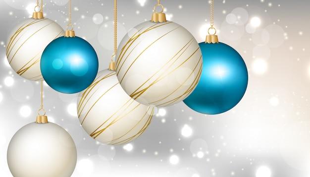 Fondo con elementos de arbol de navidad.