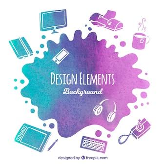 Fondo de elementos gráficos