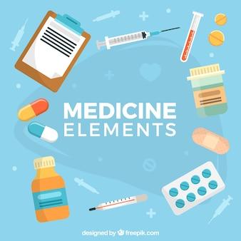 Fondo de elementos de medicina