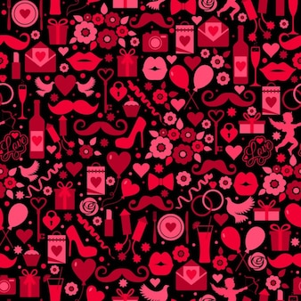 Fondo con elementos románticos para san valentin