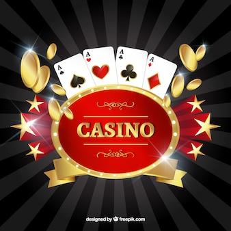 Fondo de elementos tradicionales de casino