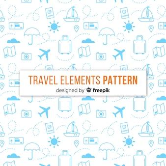 Fondo elementos viajes pequeños