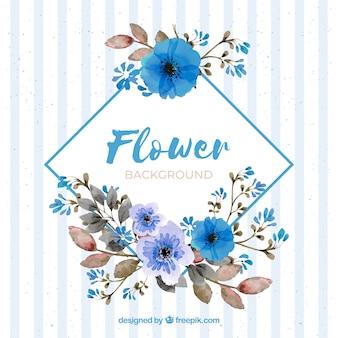 Fondo en acuarela con flores adorables