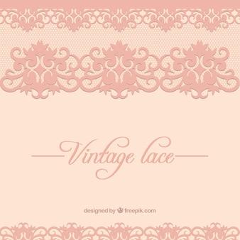 Fondo de encaje vintage