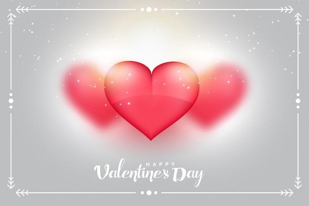 Fondo encantador de los corazones para el día de tarjetas del día de san valentín