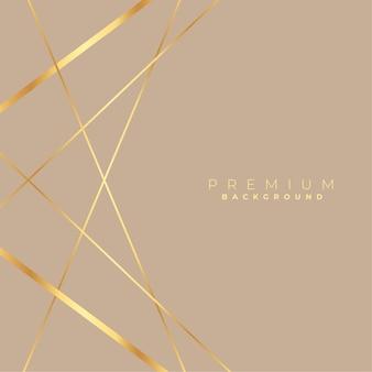 Fondo encantador de líneas doradas de baja poli elegante
