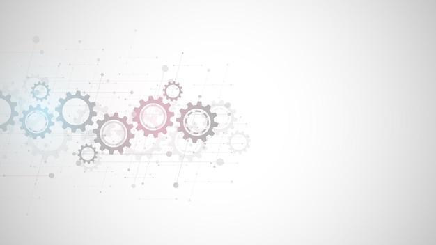 Fondo de engranajes y mecanismos de rueda dentada