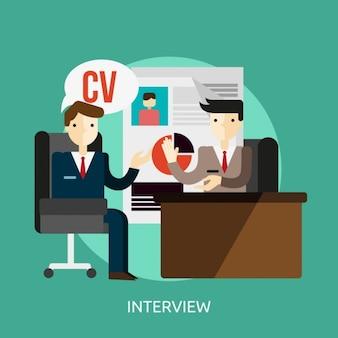 Fondo de entrevista de trabajo
