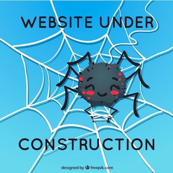 Fondo de error 404 con una araña