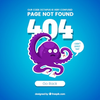 Fondo de error 404 en estilo plano