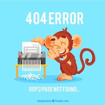 Fondo de error 404 con un mono