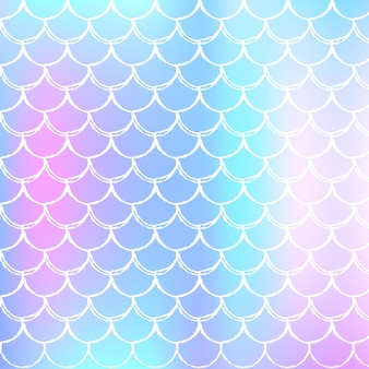 Fondo de escala holográfica con color degradado.