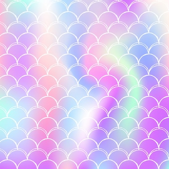 Fondo de escamas de sirena con gradiente holográfico.