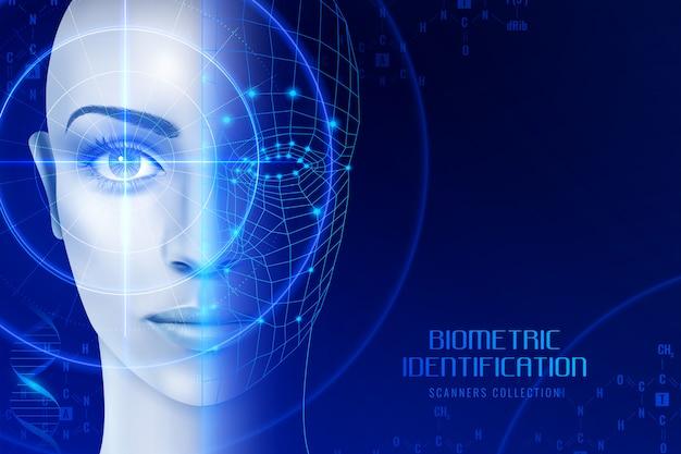 Fondo de escáneres de identificación biométrica