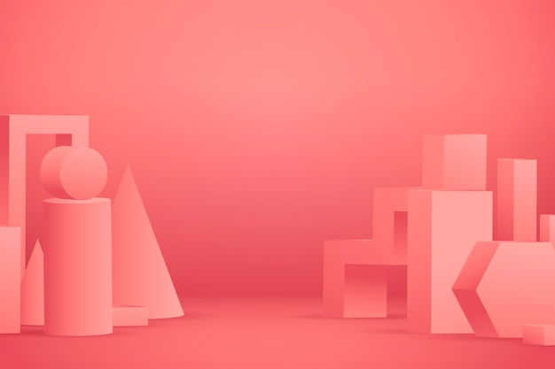 Fondo de escena abstracta tridimensional