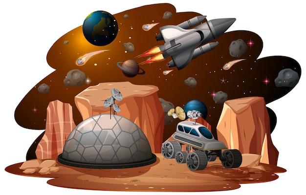 Un fondo de escena espacial.