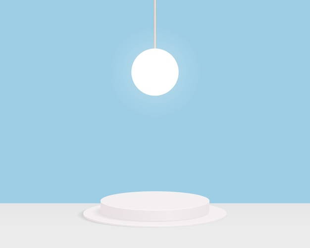 Fondo de escena mínima abstracta con formas geométricas. diseño para presentación de producto.