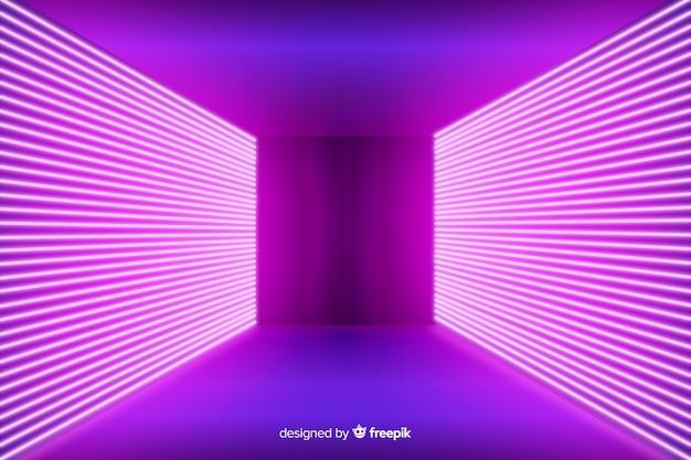 Fondo de escenario de luces de neón rosa