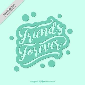 Fondo de escritura vintage del día de la amistad