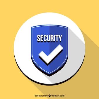 Fondo de escudo azul de seguridad