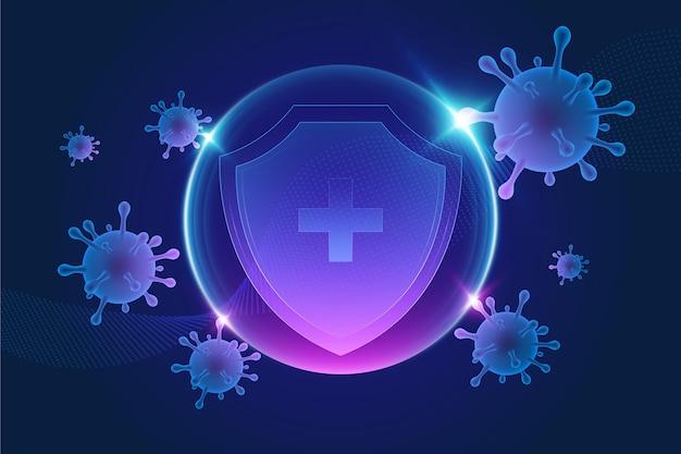Fondo de escudo de protección de coronavirus