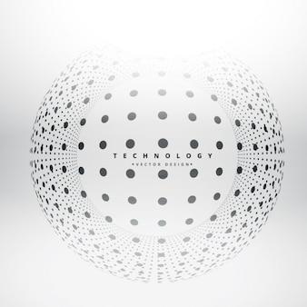 Fondo de esfera de puntos