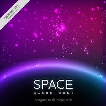 Fondo espacial brillante