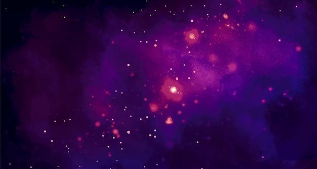 Fondo de espacio acuarela ccosmic con estrellas