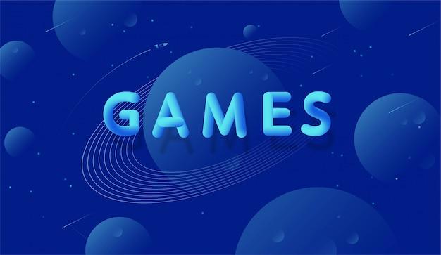 Fondo del espacio con la inscripción juegos.