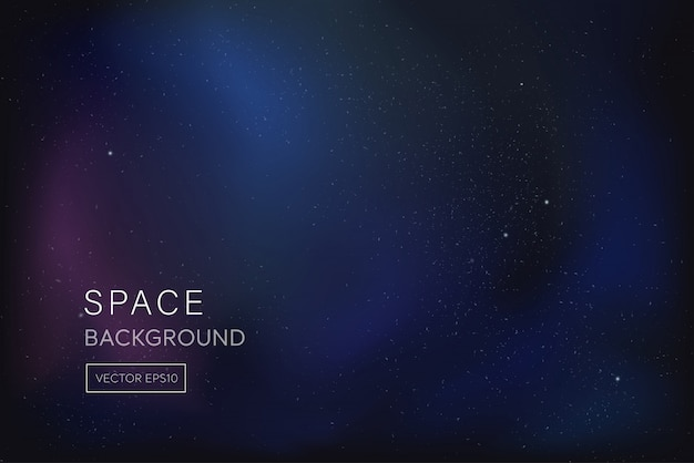 Fondo de espacio púrpura azul oscuro