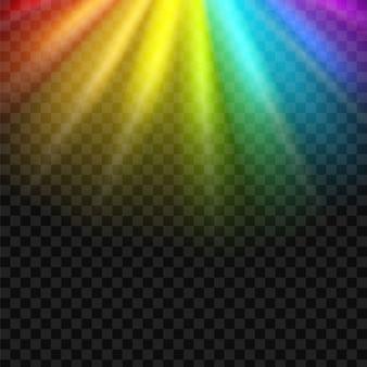 Fondo del espectro del resplandor del arco iris.