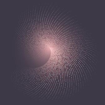 Fondo espiral con puntos de semitono