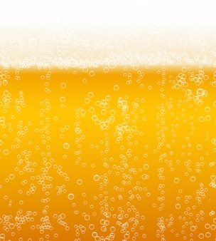 Fondo de espuma de cerveza horizontalmente de patrones sin fisuras