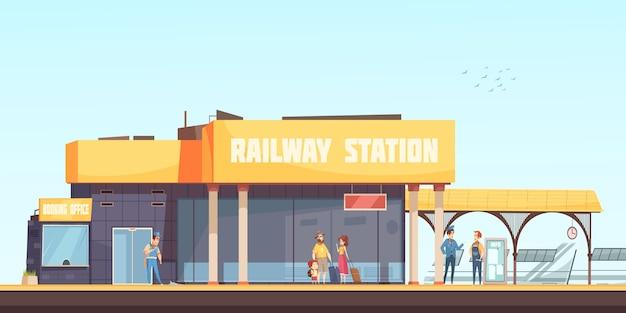 Fondo de la estación de ferrocarril