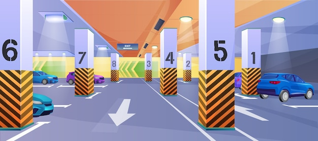 Fondo de estacionamiento subterráneo