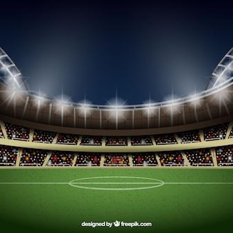 Fondo de estadio de fútbol en estilo realista