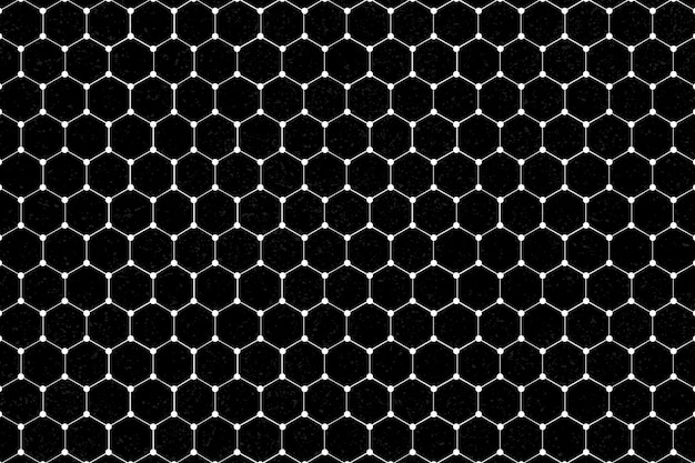 Fondo estampado hexagonal blanco