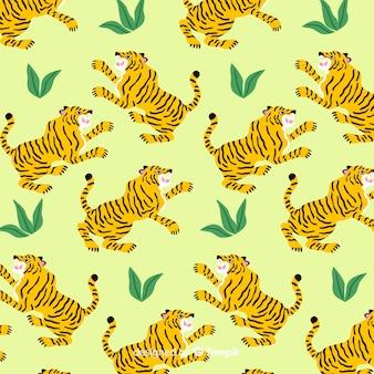 Fondo estampado de tigre dibujado a mano