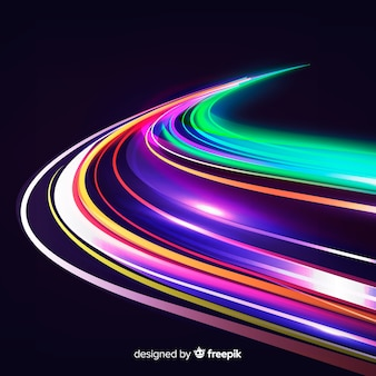 Fondo de estela de luz colorido