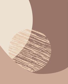 Fondo estético contemporáneo abstracto. impresión de arte minimalista.