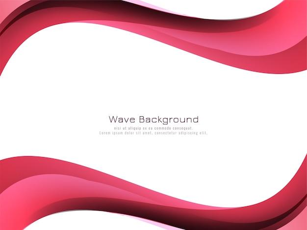 Fondo de estilo abstracto onda rosa