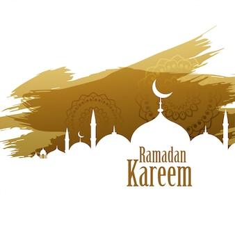 Fondo de estilo abstracto de ramadán kareem