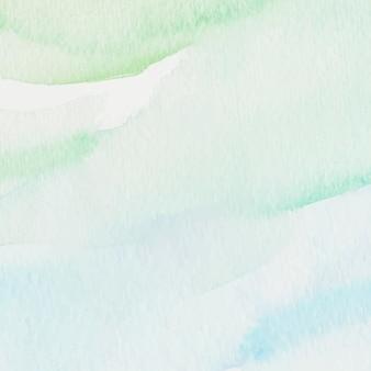 Fondo de estilo acuarela verde y azul