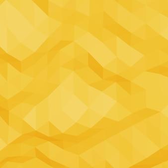 Fondo de estilo de baja poli triangular arrugado geométrico abstracto amarillo