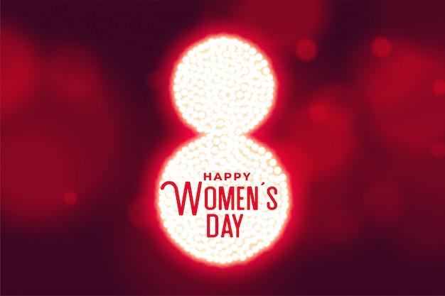 Fondo de estilo bokeh de feliz día de la mujer