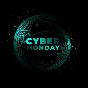 Fondo de estilo de circuito de tecnología de ciber lunes