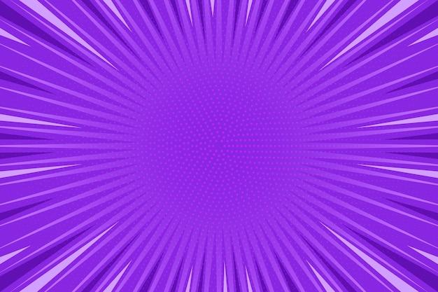 Fondo de estilo cómic púrpura de diseño plano