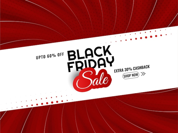 Fondo de estilo cómic rojo de venta de viernes negro