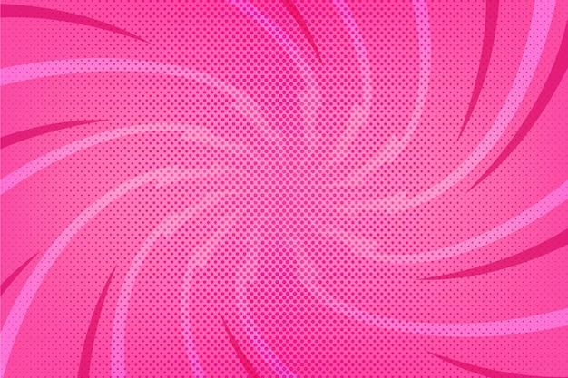 Fondo de estilo cómic rosa diseño plano