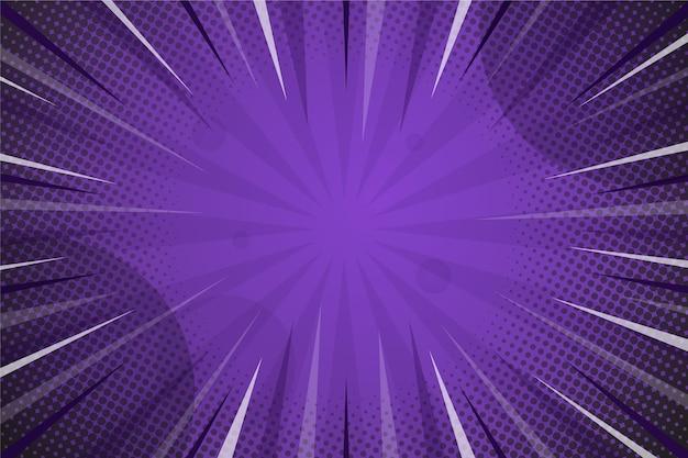 Fondo de estilo cómico de color violeta oscuro